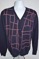 VERSACE Man's Virgin Wool Blend Cardigan Sweater NEW  Size Large  Retail $675