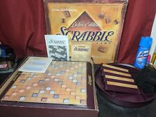 Scrabble Deluxe Edition 100% COMPLETE Turntable Board Game 1999 Spinning Wood
