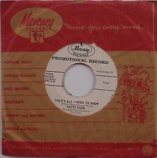 PATTI PAGE: Don't read the Letter / All I Need MERCURY DJ PROMO 45 NM-
