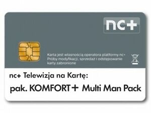 TNKNC+nakarte-Pakiet Komfort+MultiManPack12m-ceTELEWIZJANA KARTĘDOŁADOWANIECanal
