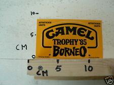 STICKER,DECAL CAMEL TROPHY 85 BORNEO