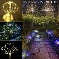 1er Solarleuchte LED Solar Feuerwerk Licht lichterkette Garden Weihnachten Decor