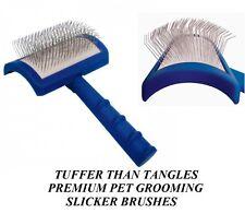 "SHOW TECH ""Tuffer Than Tangles"" LONG PIN SLICKER BRUSH *REGULAR*Cat Dog Grooming"