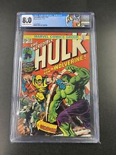 MARVEL COMICS THE INCREDIBLE HULK #181 1ST APPEARANCE WOLVERINE 1974 CGC 8.0