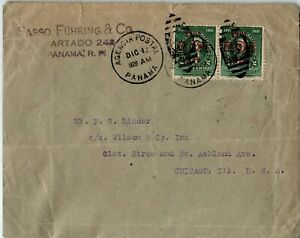Panama Postal History: LOT #1 1928 4c Franking Tourism HS PANAMA - CHICAGO $$$
