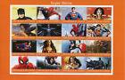 Superheroes Stamps 2017 CTO Spiderman Superman Batman Wonderwoman 16v M/S
