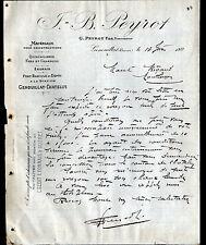 "GENOUILLAT (23) MATERIAUX de CONSTRUCTION / QUINCAILLERIE ""G. PEYROT"" en 1911"