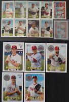 2018 Topps Heritage Philadelphia Phillies Base Team Set of 15 Baseball Cards