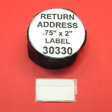 7 Rolls RETURN ADDRESS /  BARCODE LABEL fit DYMO 30330 - BPA Free