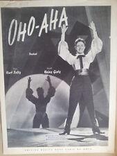 song sheet OHO-AHA Caterina Valente 1955