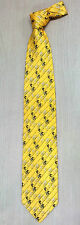 Korea Classical Necktie Olympic Bicycle Race Pictures Yellow Color Tie