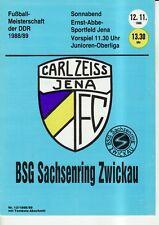 OL 88/89 FC Carl Zeiss Jena-Sassonia Anello Zwickau, RS-C