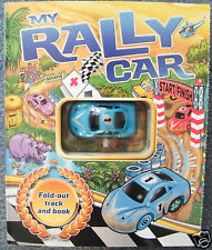 MY RALLY CAR WITH FOLD OUT TRACK BOOK  BRAND NEW