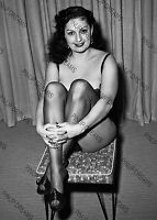 "Mara Gaye Vintage Burlesque Artist & Pin-up -set of 5 Photo's 4"" x 6"" or 5"" x 7"""