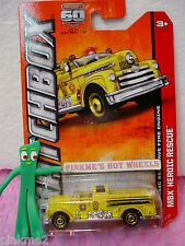2013 Matchbox #17 CLASSIC SEAGRAVE FIRE ENGINE No 5∞Yellow✰FD✰Heroic Rescue