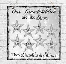Personalised Plaque Birthday Mum Nanny Grandma Family Grandchildren Gift Present