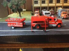 Custom Built 1/87 Scale International Fire Water Rescue W/Boat and Trailer