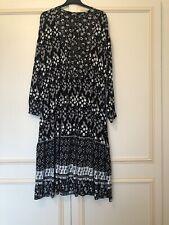 M&S Black Mix Dress 16 Petite