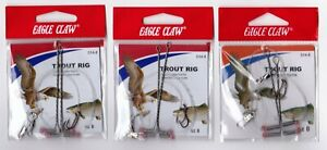 NEW! Trout Rig (3pk) - Eagle Claw #8 Premium Hooks, Fishing Gear, Free Shipping!