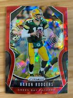 2019 Panini Prizm Aaron Rodgers Red Cracked Ice Parallel SP #119 - Packers