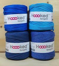 Hoooked `Zpagetti 4 x Baby Cones Blau Töne` Neu Stoffgarn Hooked,Häkeln,Stricken