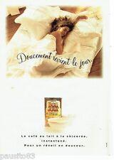 PUBLICITE ADVERTISING 126  1992  Bonjour petit déjeuner café lait à la chicorée