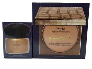 Tarte Parkave Princess Face and Body Bronzer and Buff & Bronze Brush