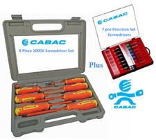 Cabac HVSDK6 Screwdriver Set 1000V 8 Piece WITH BONUS CABAC SCREWDRIVER SET - PR