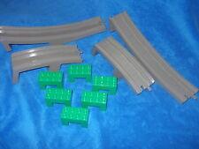 Lego Duplo Eisenbahn Brücke alt dunkel grau grün 6392 6393 6394 2738 1 Meter
