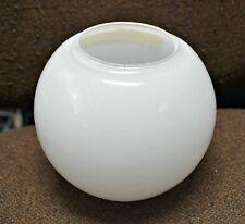 """White Opal Glass Ball 6"""" Diameter 3"""" Fitter Globe GlaSsWaRe Shade Neckless New"""