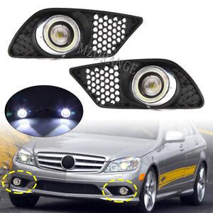 LED Daytime Running Light Angel Eyes Fog Lamps DRL For Mercedes W204 AMG 2008-11