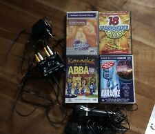 Karaoke Set, mit 2 Mikrofonen und 4 DVDs