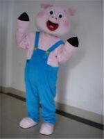 2019 Hot Cocoa Pig Mascot Costume Cosplay Pink Cartoon Animal Party Parade Dress