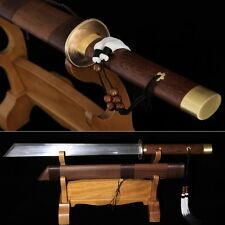 TOP Quality Chinese Sword Katana Folded Patter Steel Sharp Blade Can Cut Iron