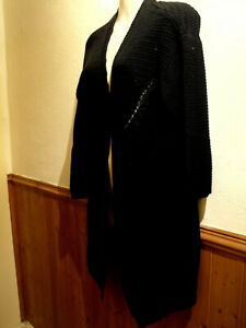 BRAND NEW YOURS LONG BLACK CARDIGAN SIZE 16
