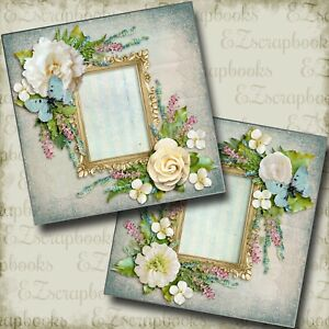 Romantic at Heart - 2 Premade Scrapbook Pages - EZ Layout 4196