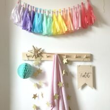 Pastel Rainbow Tassel Garland. First Birthday Party, Baby Shower, Christening