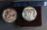 ST TOME THOMAS PRINCE SILVER 100 DOBRAS PROOF COIN 1985 KM#42a 10th INDEPENDENCE
