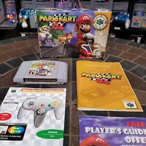 Mario Kart 64 (Nintendo 64, 1997) 100% COMPLETE CIB Player's Choice Tested
