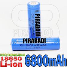 2 PILE ACCU RECHARGEABLE 18650 LI-ION 3.7v 6800mAH BATTERY BATTERIE • PRO •