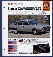 Lancia Gamma IMP Brochure Specs 1976-1984 Group 1, No 56