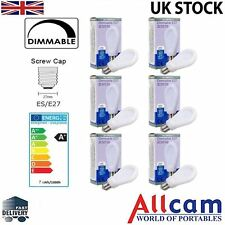 6 Pack Allcam 7W E27/ES Dimmable LED Light Bulb 630lm ~60W Incandescent *New