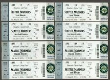 2013 Seattle Mariners Full Unused Ticket Lot of 8 Tickets MINT