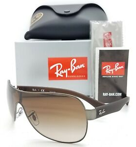 NEW Rayban sunglasses RB3471 029/13 Gunmetal Brown Gradient AUTHENTIC Shield Big