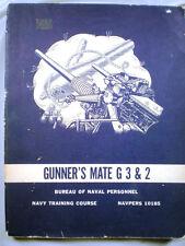 1964 Navy Training Manual GUNNER'S MATE Gunnery Ammo Explosives Small Arms
