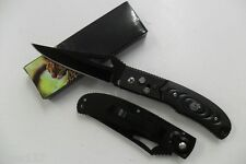 Couteau Pliant de Poche Lame Acier Fine Pointue 9cm Manche Résine 11,5cm Outdoor
