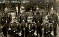 WW1 PLATOON GERMAN PROUD SOLDIERS PICKELHAUBE MAUSER RIFLE RPPC PHOTO POSTCARD