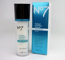 Boots No7 Protect & Perfect INTENSE Advanced Serum BOTTLE ( New in Box)