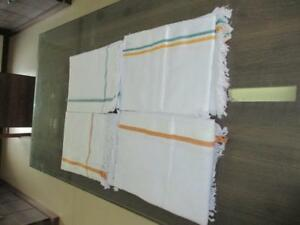 "5 Pcs Lot Khadi Handspun Hand Woven Wrap Scraf Khadi Bath Towel Sheet 72""x35"