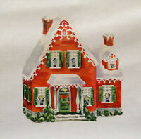Christmas House Printed On Fabric Panel Make A Cushion Upholstery Craft